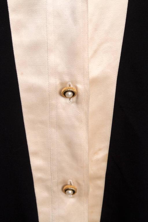 1980s Chanel Silk & Wool Cocktail Dress 7