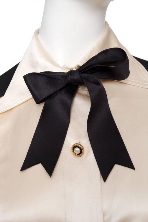 1980s Chanel Silk & Wool Cocktail Dress 6