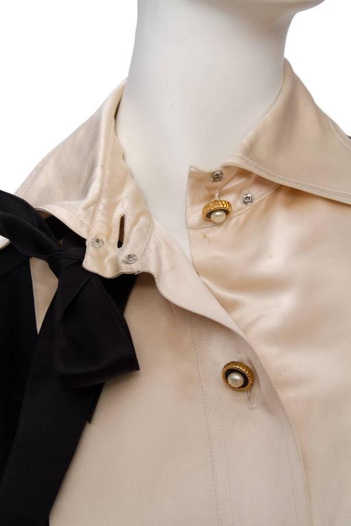 Women's 1980s Chanel Silk & Wool Cocktail Dress For Sale