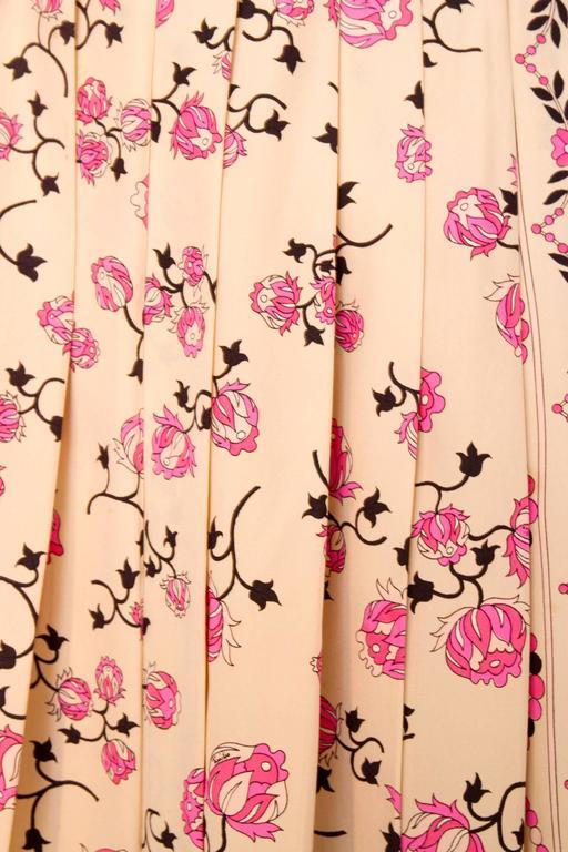 1960s Emilio Pucci Floral Print Silk Skirt 7