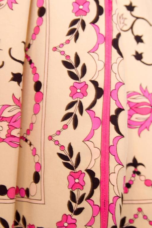1960s Emilio Pucci Floral Print Silk Skirt 8