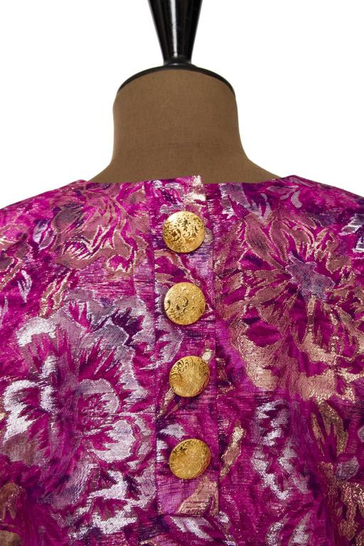1980s Yves Saint Laurent Brocade Dress 7