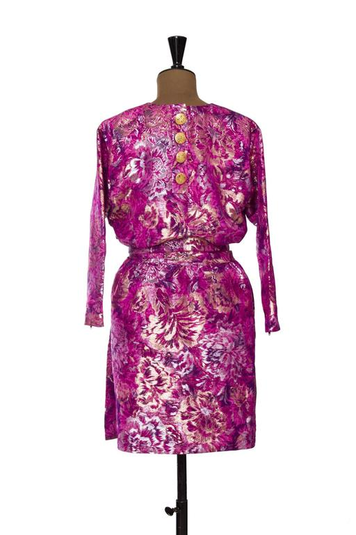 1980s Yves Saint Laurent Brocade Dress 6