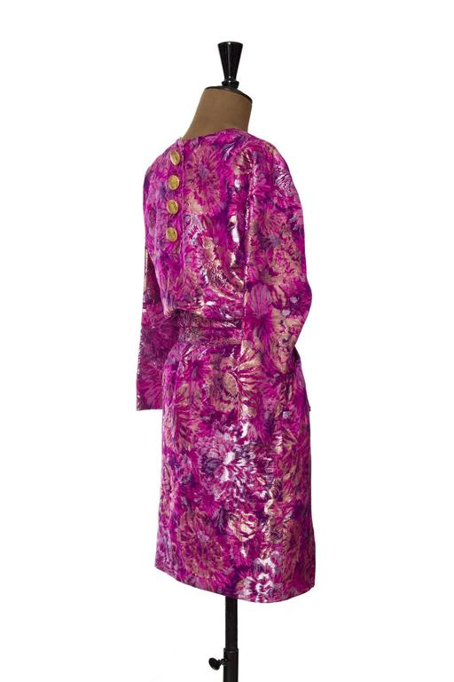 1980s Yves Saint Laurent Brocade Dress 4
