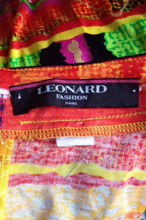 1990s Leonard Cotton Dress 2