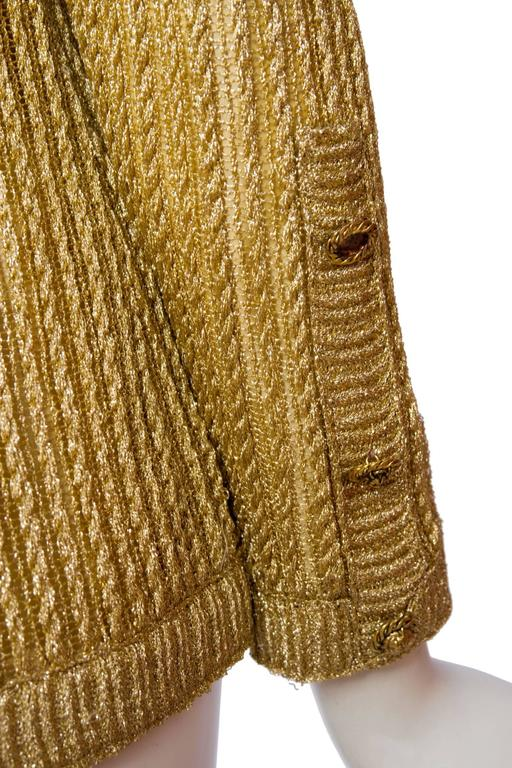 1960s Chanel Haute Couture Gold Lurex Cardigan  9