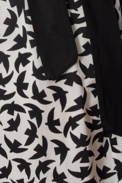 Iconic 80s Yves Saint Laurent Bird Print Wrap Skirt  For Sale 2