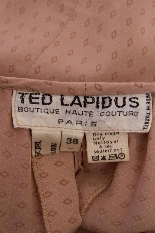 1970s Ted Lapidus Hooded Silk Dress 2