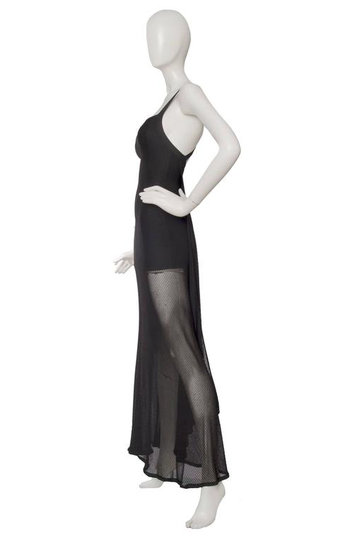 1990s Herve Leger Black Evening Gown  3