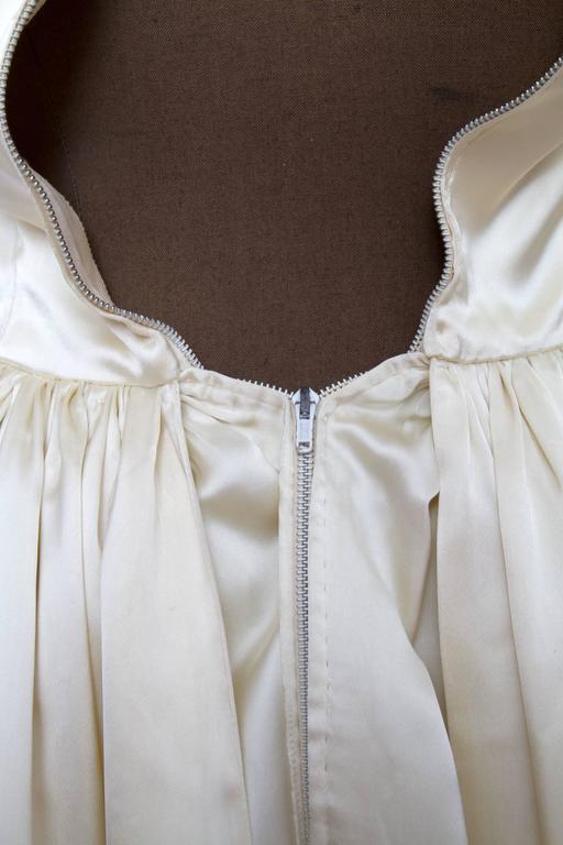 1960 Maggy Rouff Silk Wedding Gown W. Bows 9