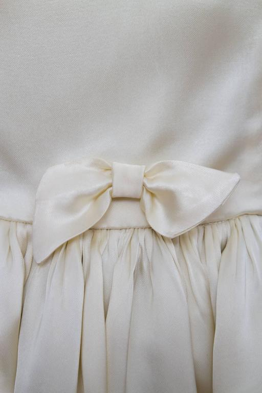 1960 Maggy Rouff Silk Wedding Gown W Bows For Sale At 1stdibs