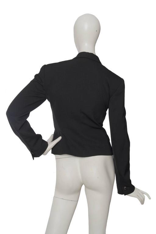 Women's A Classic 90s Black Cropped Alaia Blazer For Sale