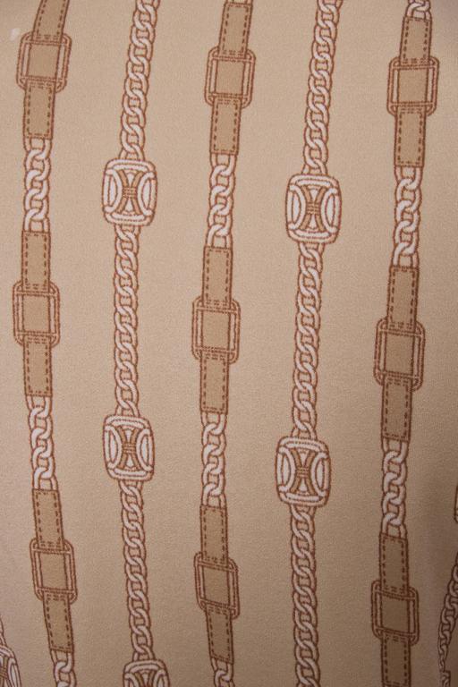 1970s Celine Chain Print Blouse For Sale 2