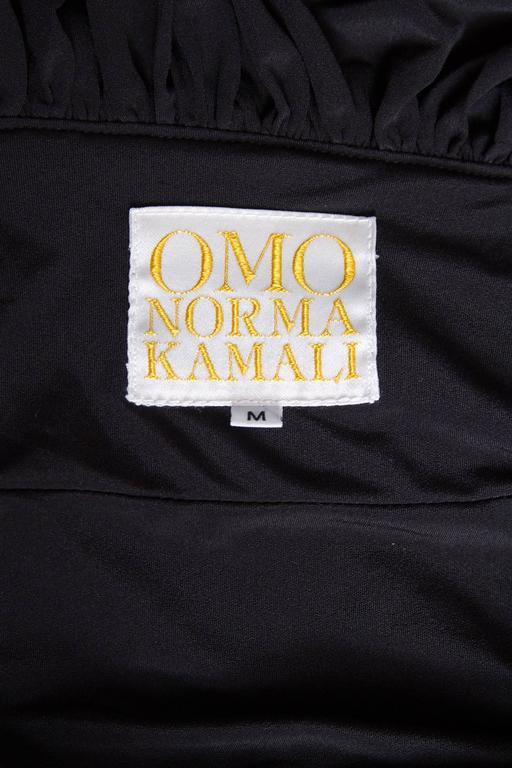 80s Black Norma Kamali Bolero Ruffle Jacket  2