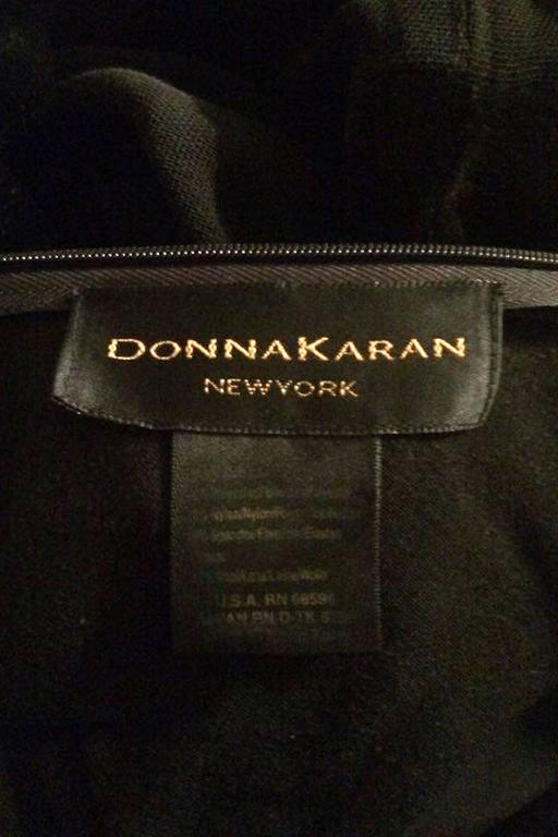 A 1990s Donna Karan Black Velvet Evening Gown  2