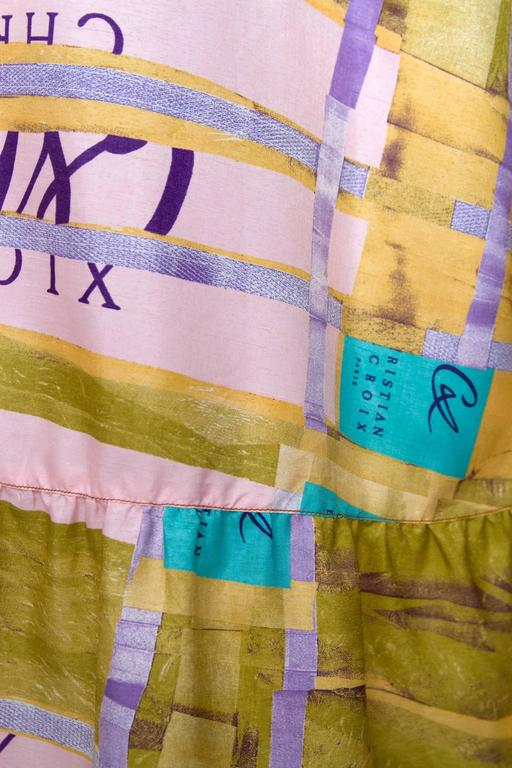 A Colorful 1990s Christian Lacroix Silk Peasent Skirt 10