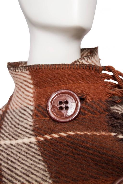 A 90 Tartan Jean-Charles de Castelbajac Wool Jacket For Sale 4