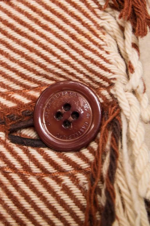 A 90 Tartan Jean-Charles de Castelbajac Wool Jacket For Sale 5