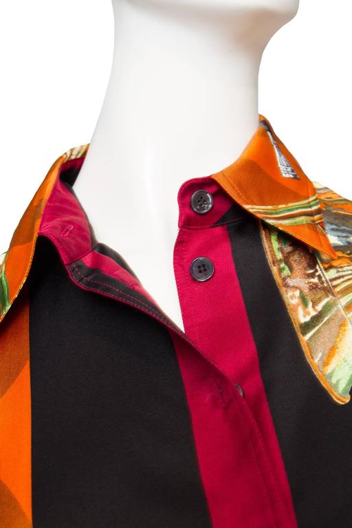 A 1980s Hermes Silk Twill Shirt  For Sale 2