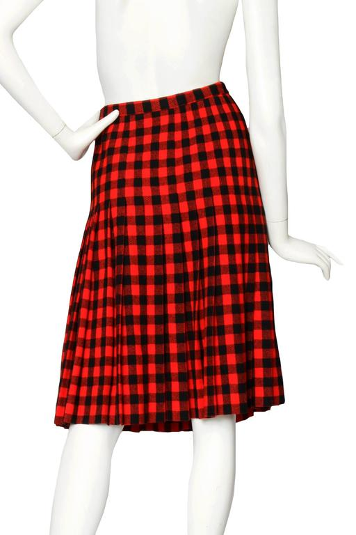 60 Givenchy Haute Couture Tartan Wool A-line Skirt 3