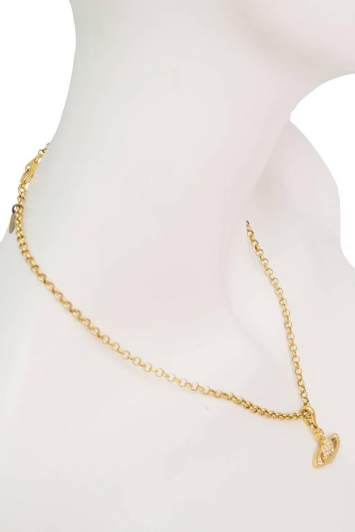 A 1990s Vivienne Westwood Gold Toned Necklace  4