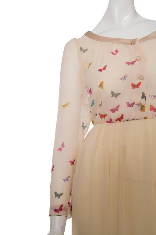 Women's A Stunning  Hanae Mori Butterfly Silk Dress  For Sale
