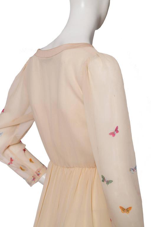 A Stunning  Hanae Mori Butterfly Silk Dress  For Sale 1