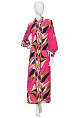 1970s Emilio Pucci Multicolored Drop-waist Dress