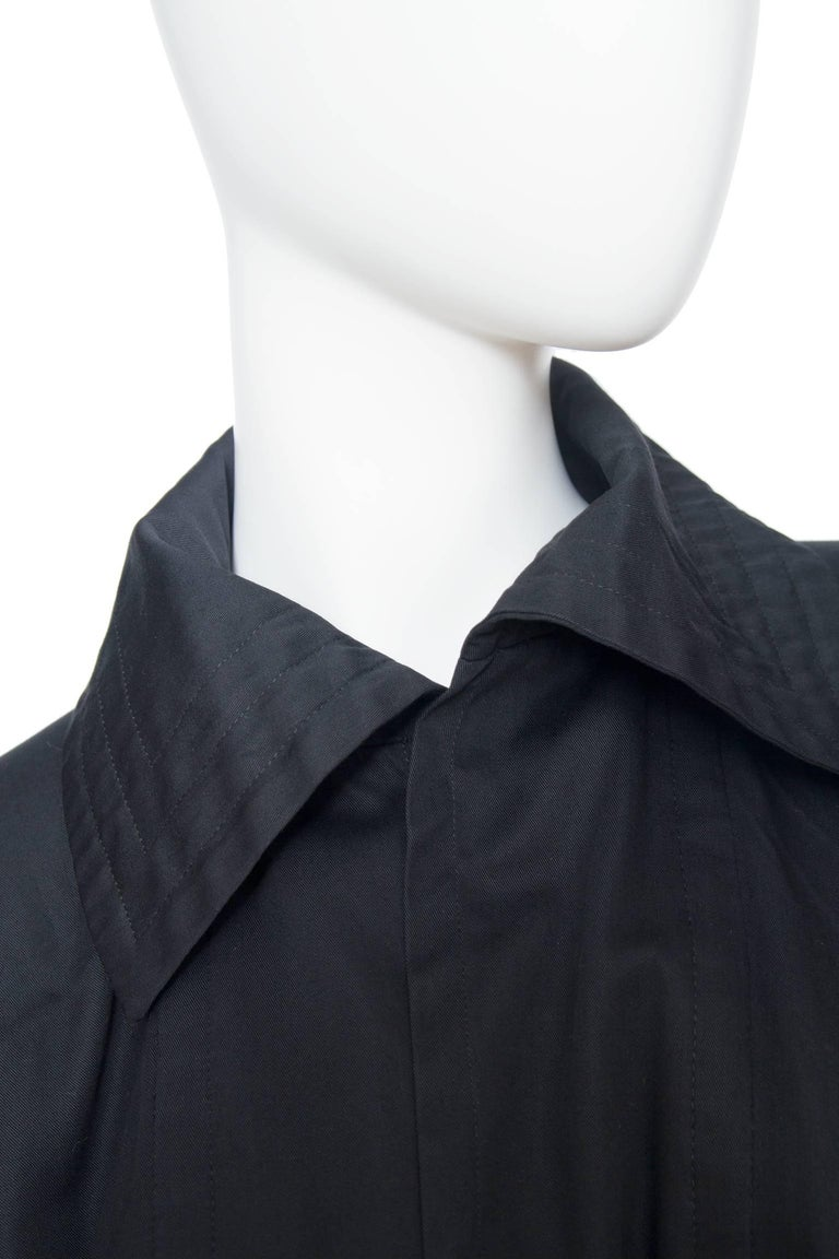 70s Yves Saint Laurent Rive Gauche Cotton Cape  For Sale 3