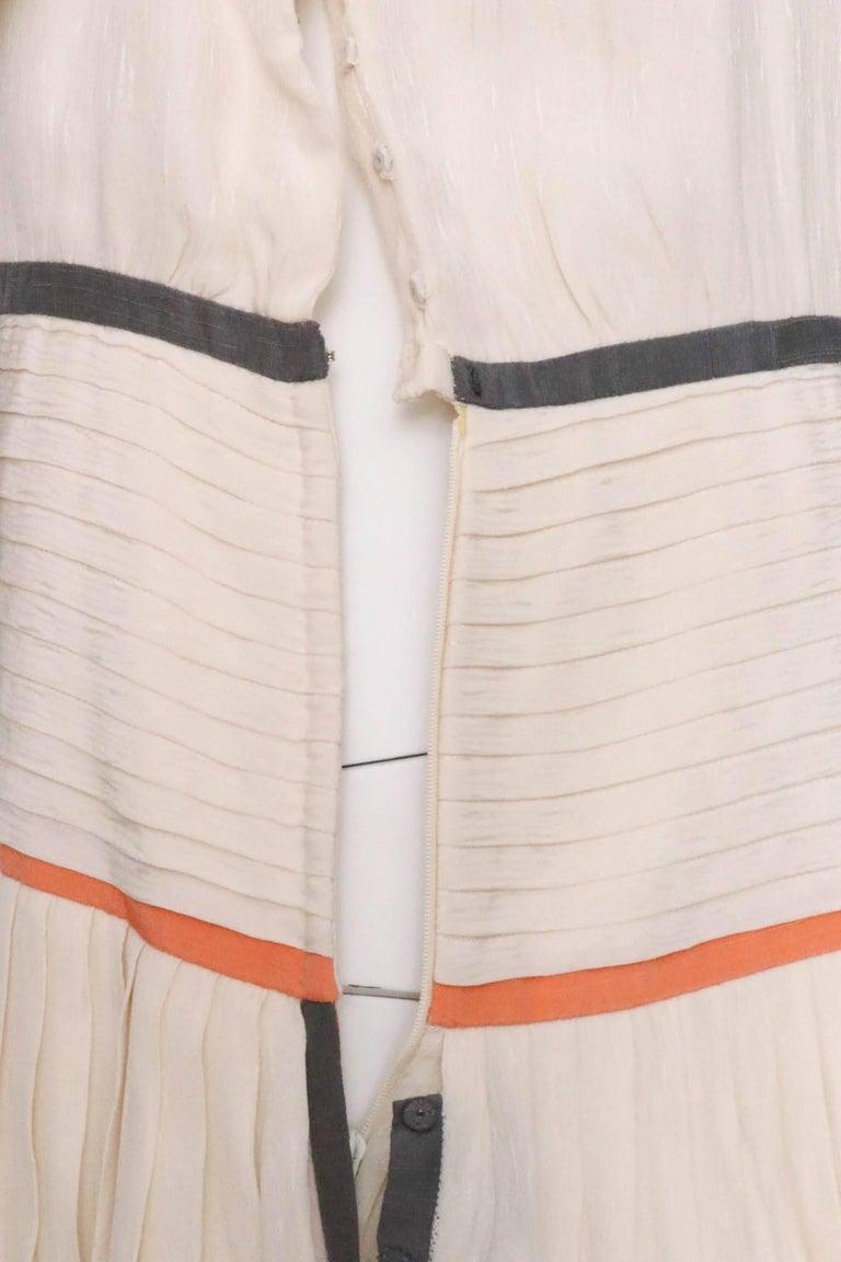 Valentino Vintage White Silk Drop Waist Dress, 1980s  For Sale 3