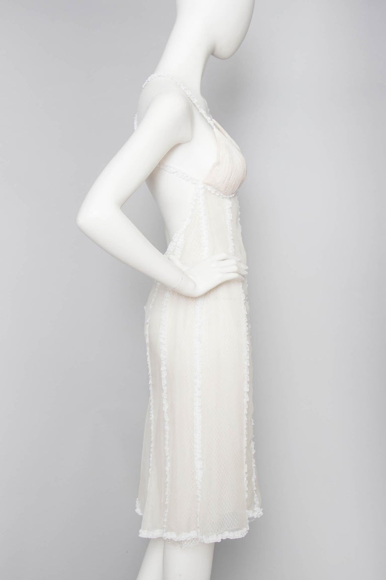Gray A Rare 1990s Vintage Gianni Versace Couture White Lace Dress For Sale