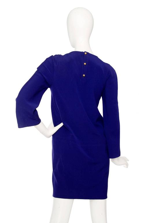 Purple Christian Lacroix 1990s Tunic Dress In Good Condition For Sale In Copenhagen, DK