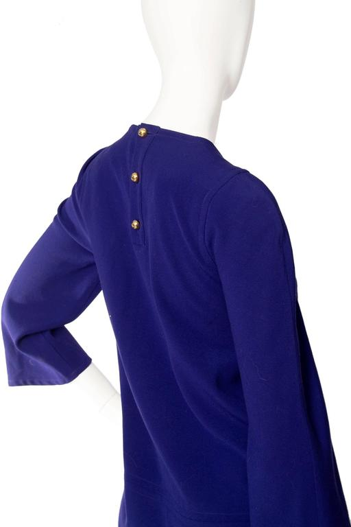Purple Christian Lacroix 1990s Tunic Dress For Sale 2