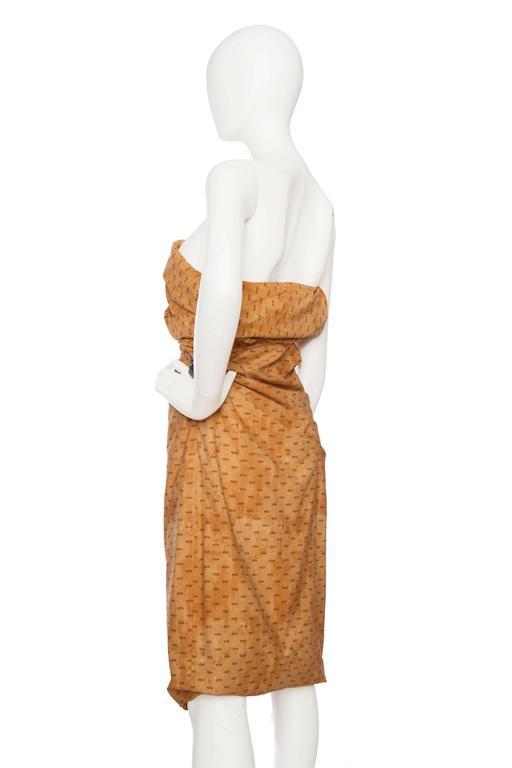 Orange Bottega Veneta Hand Dyed Cotton Dess For Sale