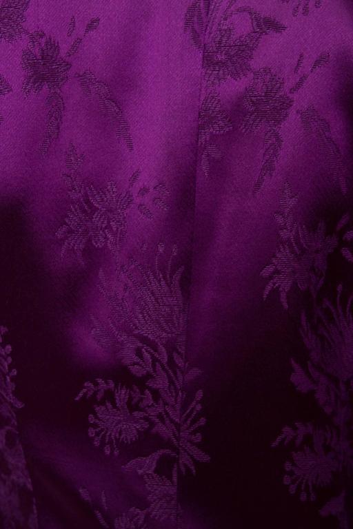 1980s Yves Saint Laurent Purple Jacquard Evening Jacket 8
