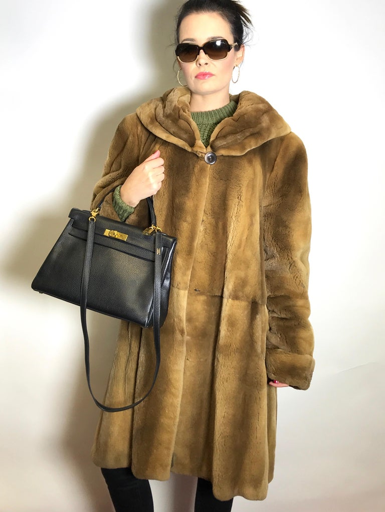 High class sheared tan mink 3/4 jacket / coat. Exclusively made by