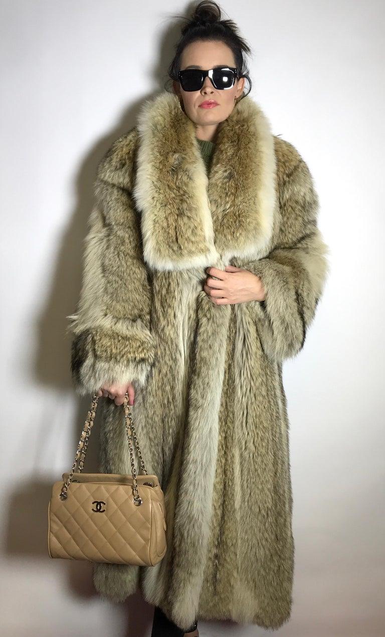Coyote Fur Coat >> Long Coyote Fur Coat Shadow Fox Tan White 15