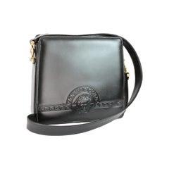 Gianni Versace Shoulder Bag Leather Vintage Black