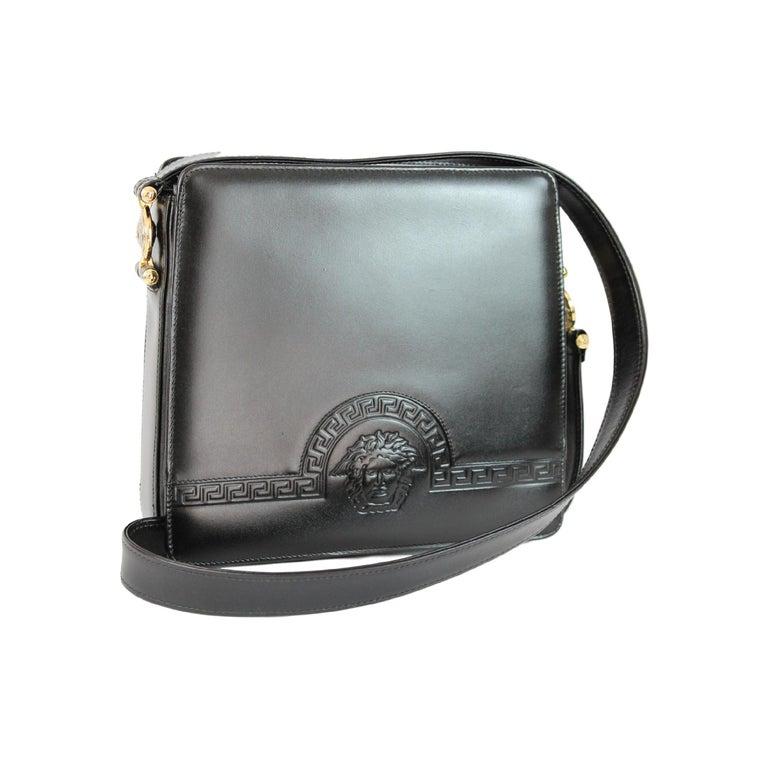 Gianni Versace Shoulder Bag Leather Vintage Black at 1stdibs ddb3b8e228763
