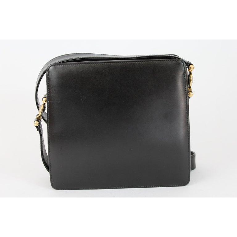 Women s Gianni Versace Shoulder Bag Leather Vintage Black For Sale 20629c15e116a