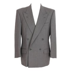 Emanuel Ungaro Jacket Double Breasted Wool Vintage Brown, 1990s
