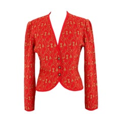 Emanuel Ungaro Sweater Jacket Wool Vintage Red, 1990s
