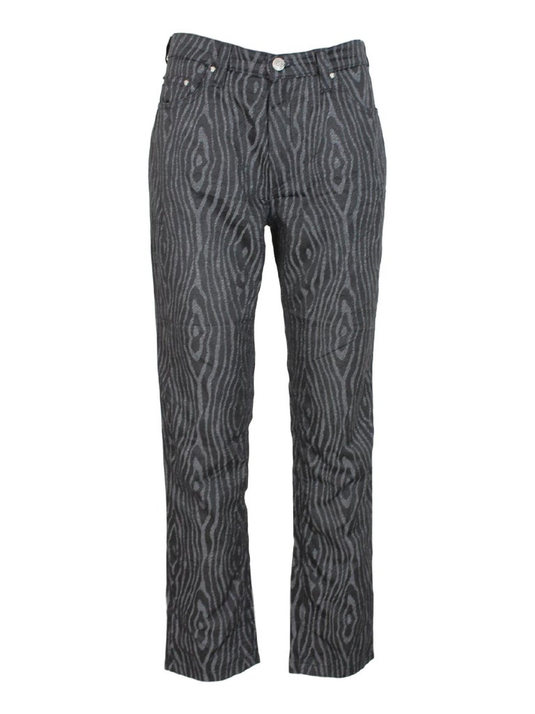 3832f07bc506 Gianni Versace Jeans Couture Pants Spotted Lurex Vintage Black Gray ...