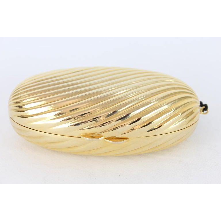 Women's Salvatore Ferragamo Evening Bag Clutch Jewel Pochette Vintage Gold For Sale