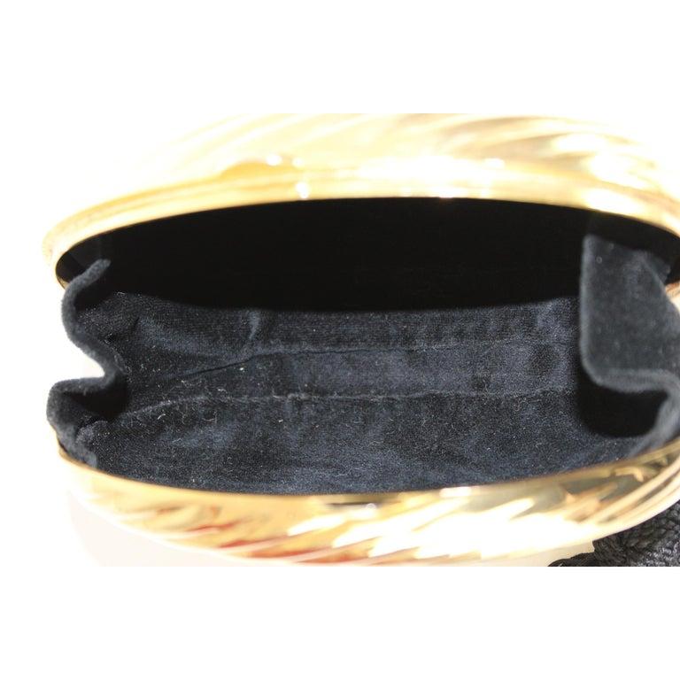 Salvatore Ferragamo Evening Bag Clutch Jewel Pochette Vintage Gold For Sale 3