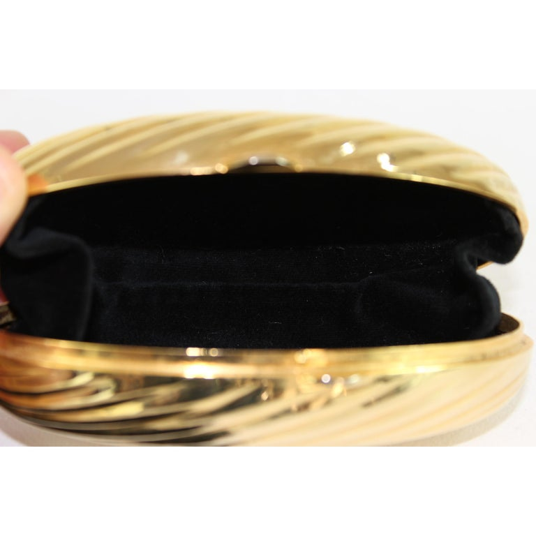 1cafe075cd81 Salvatore Ferragamo Evening Bag Clutch Jewel Pochette Vintage Gold For Sale  2
