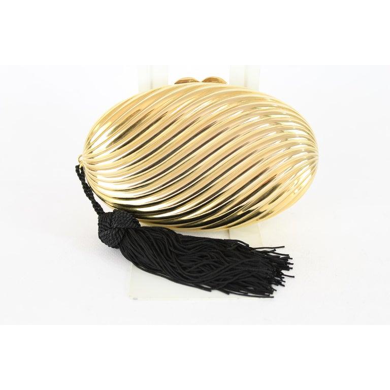 Pink Salvatore Ferragamo Evening Bag Clutch Jewel Pochette Vintage Gold For Sale