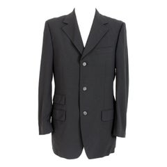 1990s Tom Ford For Gucci Classic Jacket Wool Vintage Black