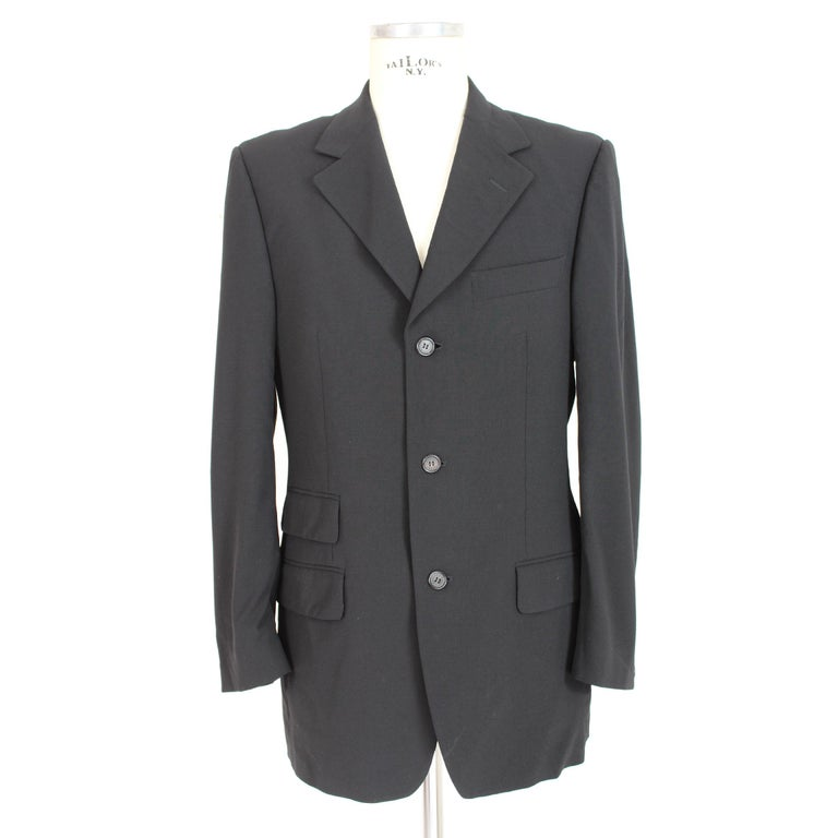 55a098d3801 Tom Ford vintage men's jacket for Gucci, 1990s, classic model, 96% wool
