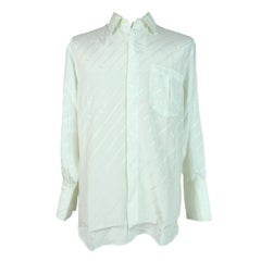1990s Yves Saint Laurent Shirt Twin Silk Vintage White